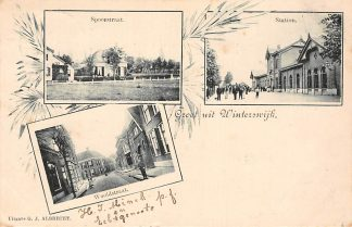 Ansichtkaart Winterswijk 1899 Station Spoorstraat en Wooldstraat HC3267