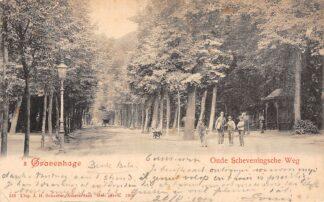 Ansichtkaart 's-Gravenhage Oude Scheveningsche Weg 1900 Den Haag Scheveningen HC3271