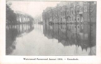 Ansichtkaart Purmerend Watersnood Januari 1916 Emmakade Uitg. J.P. Schuld HC3284