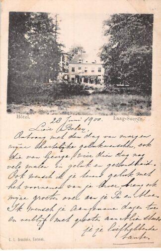 Ansichtkaart Laag-Soeren Hotel 1900 Rheden HC3292