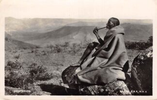 Ansichtkaart Zuid-Afrika Meditation Native with pipe 1949 South-Africa Afrika HC3297