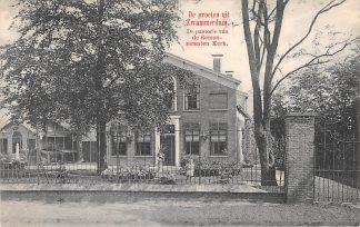Ansichtkaart Zwammerdam De Pastorie van de Remonstranten Kerk 1910 Bodegraven HC3306