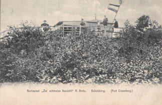 Ansichtkaart Berg en Dal Duivelsberg Restaurant zur schonsten Aussicht H. Arntz Post Cranenburg HC3324
