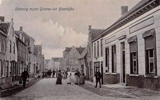 Ansichtkaart IJzendijke Ontvang mijne groeten Sluis Zeeuws-Vlaanderen Zeeland HC3332