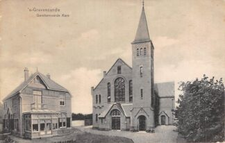 Ansichtkaart 's-Gravenzande Gereformeerde Kerk 1924 HC3336