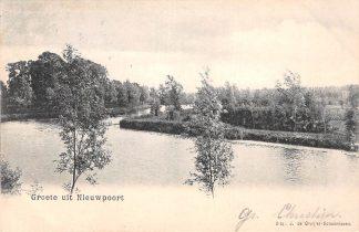 Ansichtkaart Groeten uit Nieuwpoort Stadsgracht Uitg. de Gruijter Schoonhoven HC3341