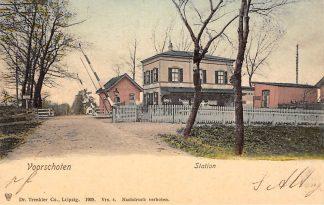 Ansichtkaart Voorschoten Station 1905 Spoorwegen HC3343