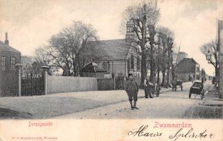 Ansichtkaart Zwammerdam Dorpsgezicht Gereformeerde Kerk Molen Uitg. Kraaijenbrink 1903 Bodegraven HC3348