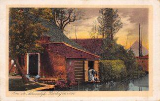 Ansichtkaart Bodegraven Aan de Schoordijk 1927 Boerderij HC3349