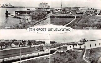 Ansichtkaart Lelystad Een groet uit Haven Zuiderzee werken Flevoland HC3372