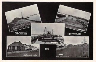 Ansichtkaart Lelystad Haven Cantine met woning Werkhaven Kamp 1957 Flevoland HC3380