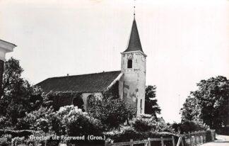 Ansichtkaart Feerwerd Winsum Groeten uit met kerk HC3399