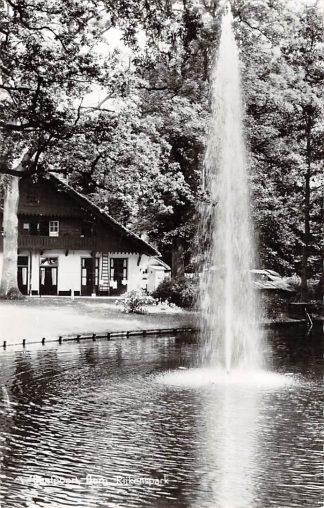 Ansichtkaart Santpoort Burg Rijkenspark met fontein HC3419