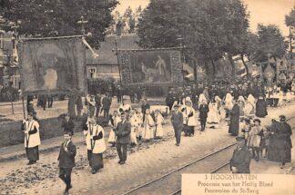 Ansichtkaart Hoogstraten België Processie van het Heilig Bloed Reclame Kwatta Chocolade HC3470