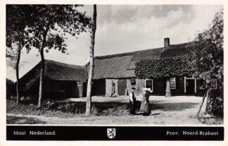 Ansichtkaart Noord-Brabant Dorpsleven Mooi Nederland Buurpraatje 1950 HC3525