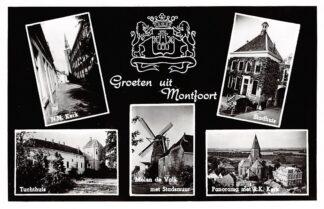 Ansichtkaart Montfoort Groeten uit 1959 HC3536