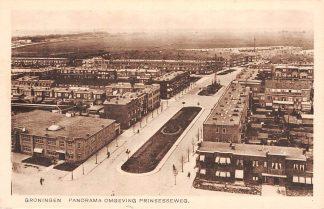 Ansichtkaart Groningen Panorama omgeving Prinsesseweg HC3630
