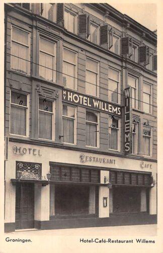 Ansichtkaart Groningen Reclame kaart Hotel Cafe Restaurant Willems HC3699