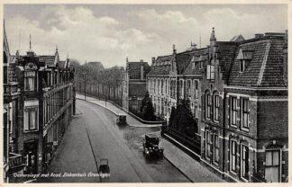 Ansichtkaart Groningen Oostersingel met Acad. Ziekenhuis Auto 1932 HC3730