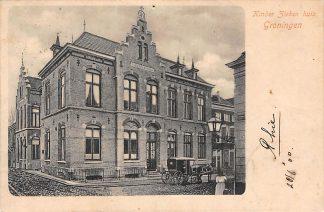 Ansichtkaart Groningen Kinder Ziekenhuis 1900 Paard en wagen HC3734