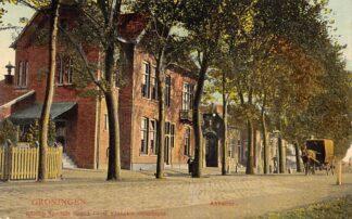 Ansichtkaart Groningen Abbatoir Paard en wagen 1910 Tulp HC3775