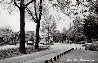 Ansichtkaart Haren Groningen Rijksstraatweg 1962 Auto HC3805