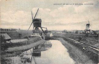 Ansichtkaart Leerdam Gezicht op de drie molens 1924 molen HC3867