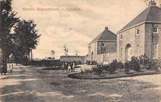 Ansichtkaart Leerdam Nieuwe Begraafplaats 1917 Kerkhof HC3870