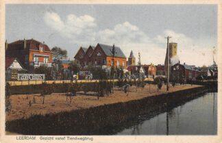 Ansichtkaart Leerdam Gezicht vanaf de Tiendwegbrug 1927 HC3874