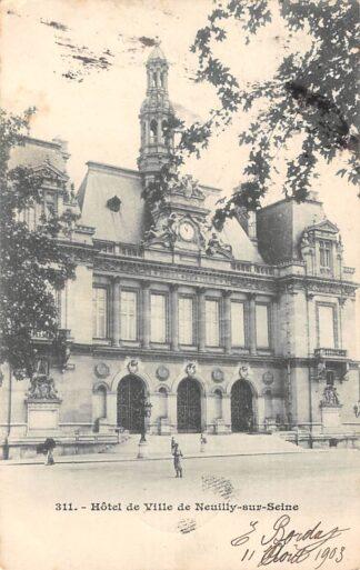 Ansichtkaart Neuilly sur Seine 1902 Hotel de Ville Frankrijk France HC3943