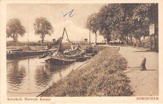 Ansichtkaart Gorinchem Schutkolk Merwede Kanaal Sluis Binnenvaart Schepen HC3952