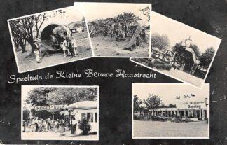 """Ansichtkaart Haastrecht Reclame Speeltuin de """"Kleine Betuwe"""" 1964 HC3957"""