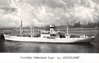 "Ansichtkaart Amsterdam Koninklijke Hollandsche Lloyd m.s. ""Gooiland"" Zee scheepvaart Schepen HC3960"