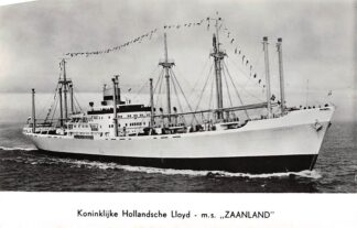 "Ansichtkaart Amsterdam Koninklijke Hollandsche Lloyd m.s. ""Zaanland"" Zee scheepvaart Schepen HC3962"
