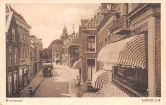 Ansichtkaart Leerdam Kerkstraat met vracht auto 1925 HC3983