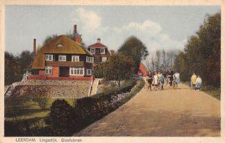 Ansichtkaart Leerdam Lingedijk Glasfabriek 1929 HC3984