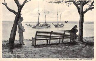 Ansichtkaart Nederlands-Indië Soerabaja Oedjong met schepen Surabaya Azië Indonesia HC3995