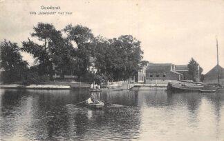 Ansichtkaart Gouderak Villa IJsselzicht met Veerpont vanaf Moordrecht 1918 HC4134