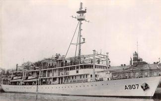 Ansichtkaart Den Helder Hr. Ms. Snellius A 907 1960 Marine Scheepvaart HC4148