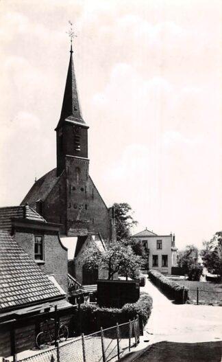 Ansichtkaart Gouderak Kerk met Pastorie 1954 HC4157