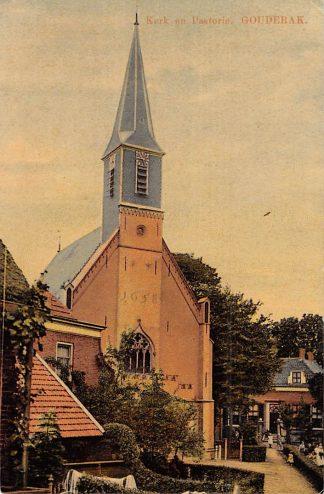 Ansichtkaart Gouderak Kerk met Pastorie HC4159