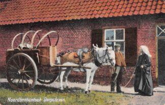 Ansichtkaart Noord-Brabant Dorpsleven De dorpskruidenier met paard en wagen Klederdracht 1925 HC4177