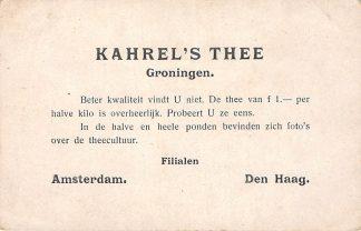 Ansichtkaart Fantasie Groningen Reclame Kahrel's Thee Filialen Amsterdam Den Haag Illustrator Gerstenhauer HC4196
