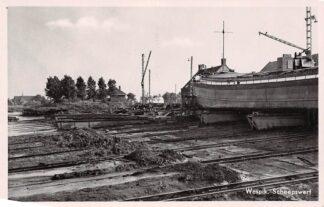 Ansichtkaart Waspik Scheepswerf Binnenvaart schepen 1955 Noord-Brabant HC4219