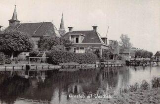 Ansichtkaart Oosthem Fotokaart Gereformeerde en Hervormde Kerk 1942 Bij Sneek HC4233