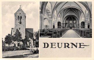 Ansichtkaart Deurne (NB) St. Jozef kerk Exterieur en interieur HC4234