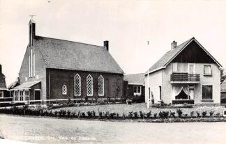 Ansichtkaart Oostermeer Eastermar Gereformeerde Kerk en Pastorie 1968 HC4246