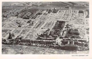 Ansichtkaart Den Haag Bezuidenhoutkwartier 1946 na bombardement WO2 KLM Luchtfoto 16489 HC4255