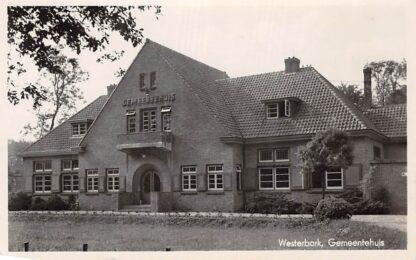 Ansichtkaart Westerbork Gemeentehuis 1948 Drenthe HC4256