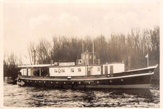 Ansichtkaart Rotterdam Kantine- en logiesschip Brinia liggende aan de Strekdam 1956 Scheepvaart Binnenvaart schepen HC4257